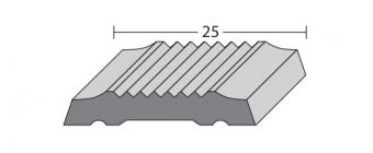 FP 825 Product Zachte PVC inlage voor Combi profiel - glad