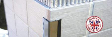 These Self Adhesive Genesis edge protection profiles are designed to absorb and protect against impact damage on external corners on walls. Suitable for retro fixing the profiles provide a decorative and clean finish as well as covering existing damage to walls so the wall covering doesn't have to be replaced.