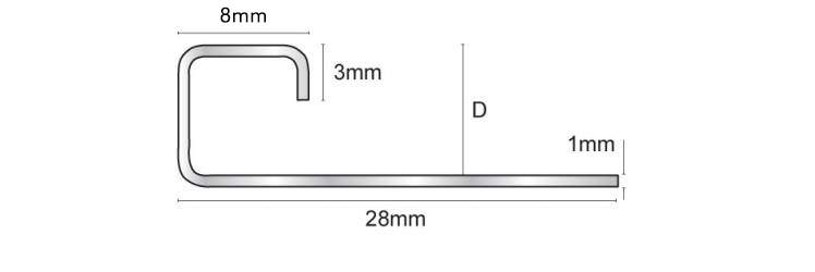 This Stainless Steel profile should be chosen where high levels of hygiene are sought