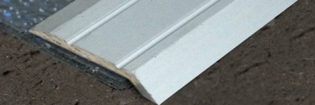 This aluminium retro fit transition profile is incredibly easy to install without mechanical fixings